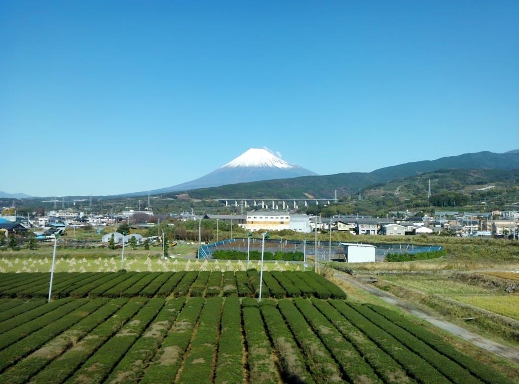 新幹線からの眺め