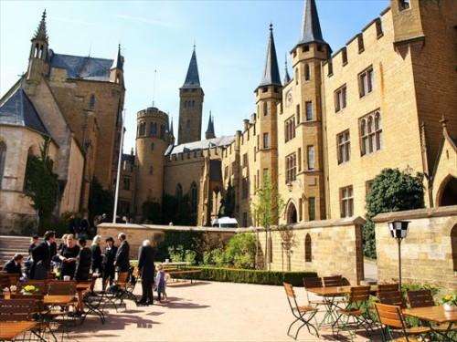 ホーエンツォレルン城中庭