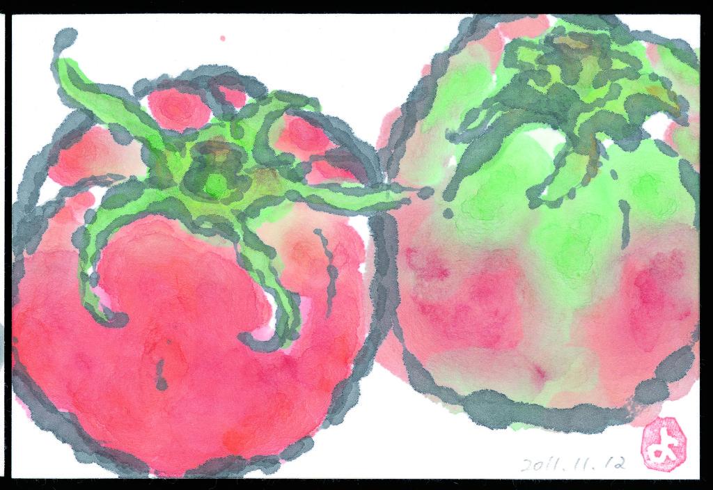 絵手紙トマト