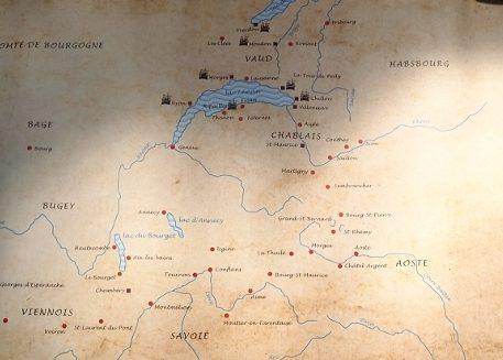 シヨン城map