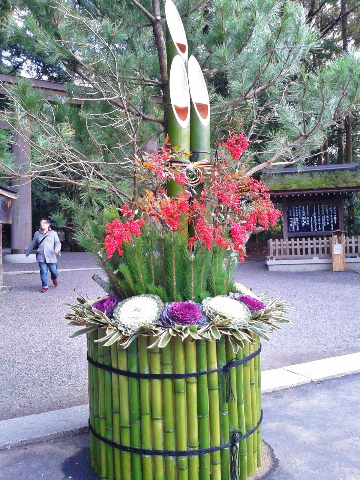 Omiwa shrine's kadomatsu