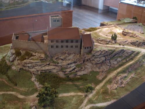 カイザーブルク城の模型