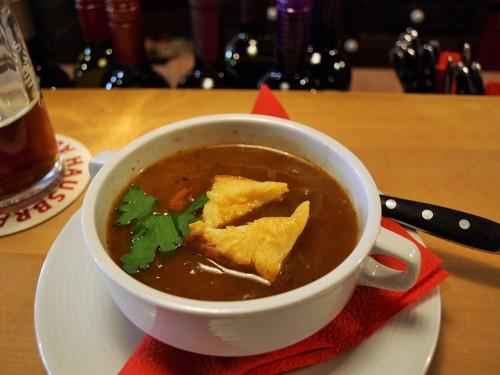 オニオンレッドビアスープ