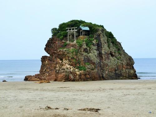 稲佐の浜_弁天島