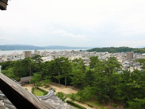 松江城天守からの眺め