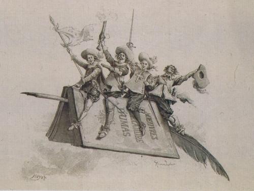 『三銃士』の挿絵の葉書