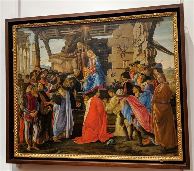 ボッティチェリ「東方三博士の礼拝」