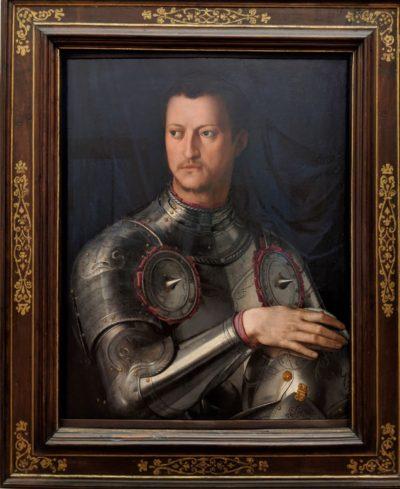コシモ1世(ブロンジーノ作1543-1546年)