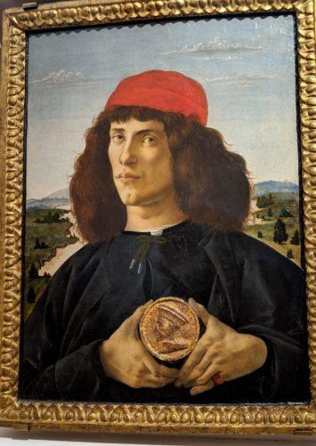 「メダルを持つ男の肖像」ボッティチェリ(1475年)
