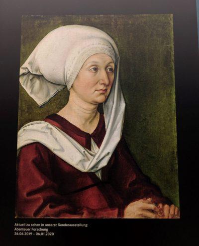 デューラーの母バーバラの肖像画(1490)