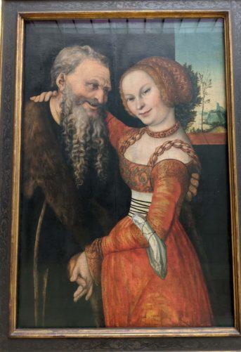「不一致のペア」(1530)ルーカス・クラナッハ作