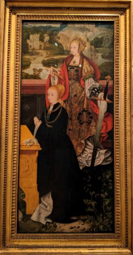Wing of an Unknown Altarpiece with St. Catherine and a Donor(1520/22)