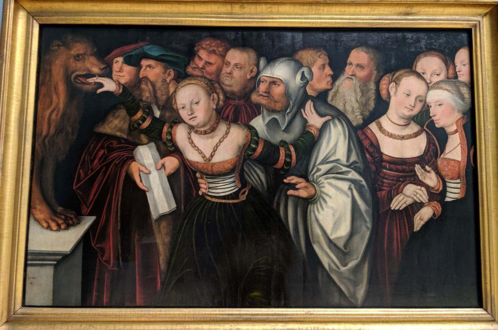 「寓話 真実の口」(1534)クラナッハ作