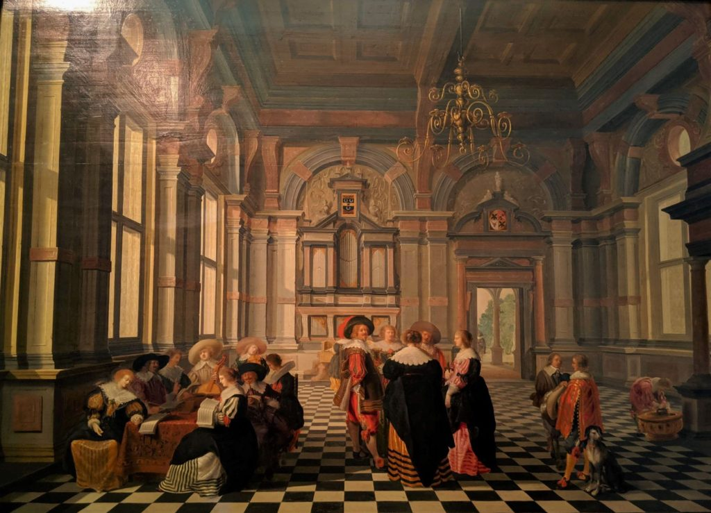 Group Playing Music in a Renaissance Place(1632)