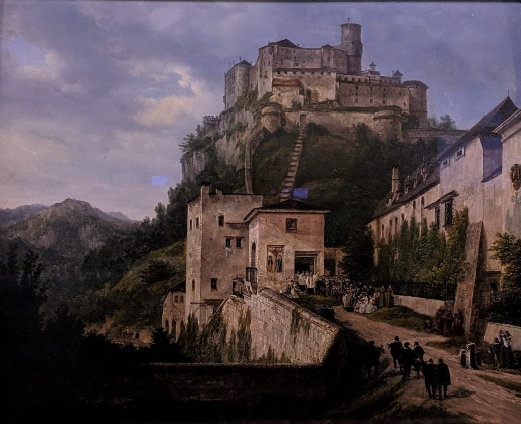 Nonnberg and Hohensalzburg Castle(1819)