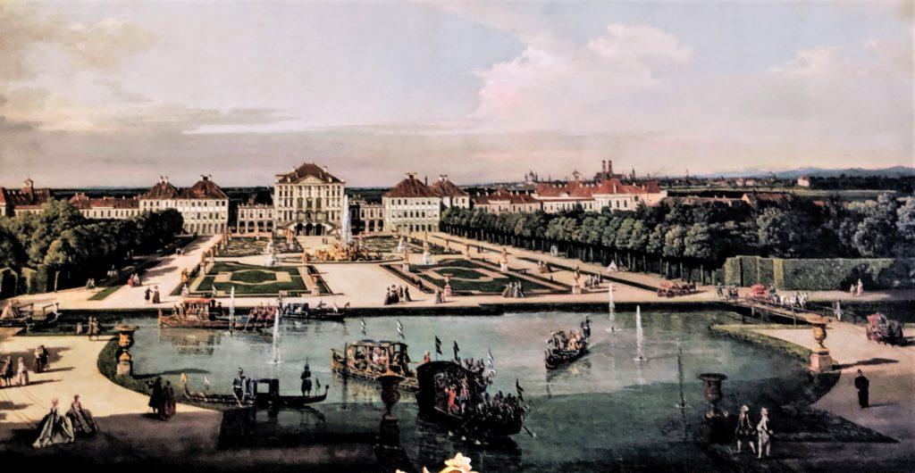 カナレット作(1760年ころ)ニンフェンブルク宮殿