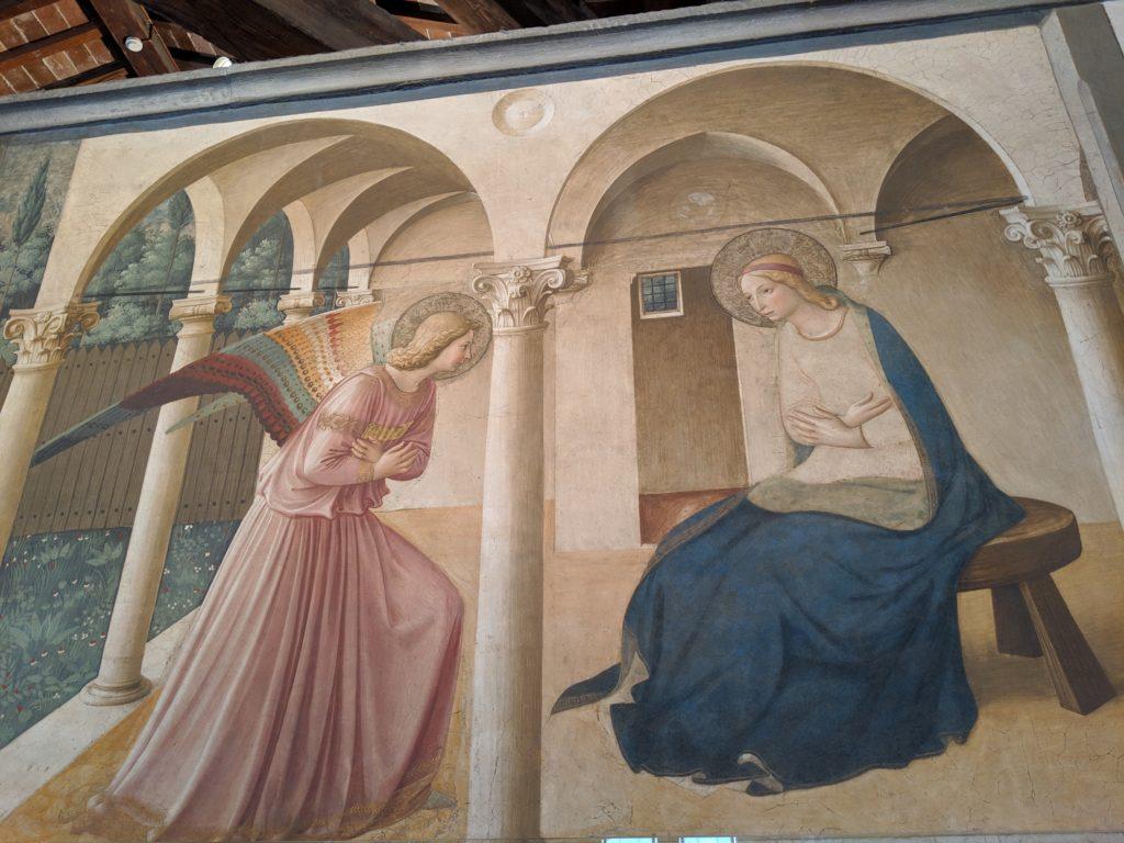 フラ・アンジェリコ『受胎告知』サン・マルコ修道院