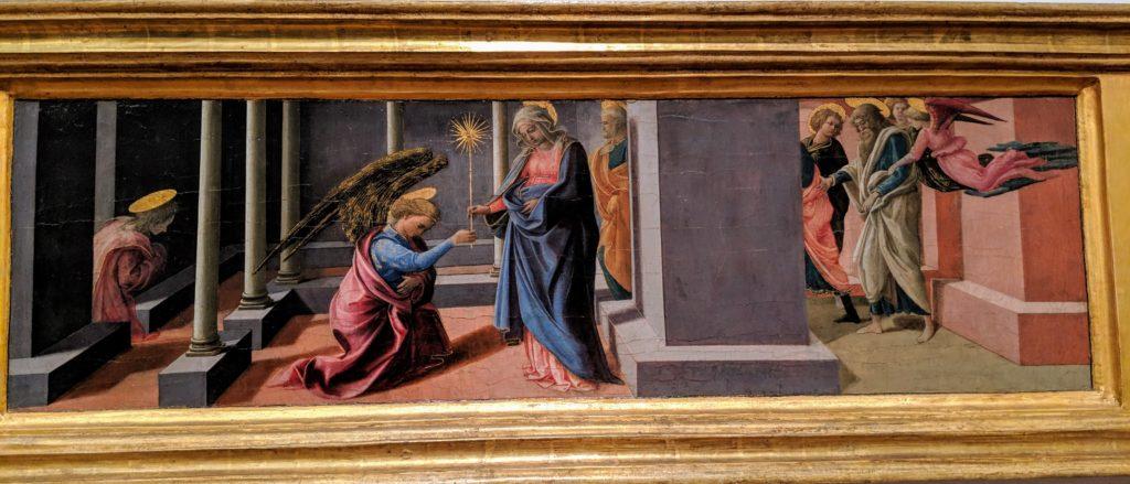 フィリッポ・リッピ「聖母マリアの市の告知」