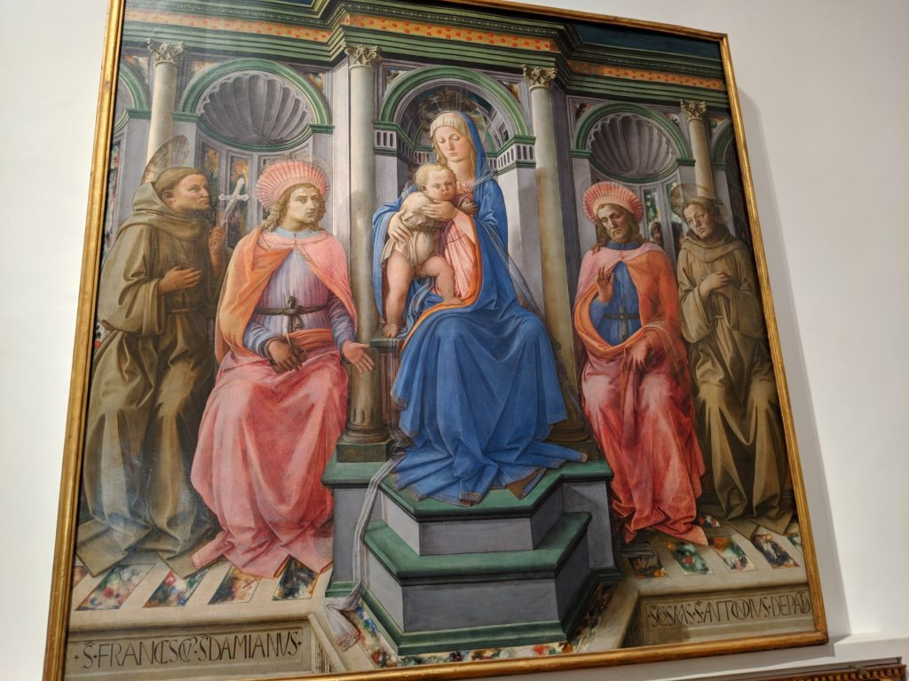 フィリッポ・リッピ (1406-1469) - Madonna Enthroned with Saints.