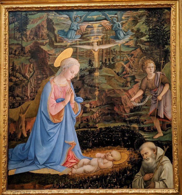 フィリッポ・リッピ Adorazione del Bambino (Monastero di Camaldoli)
