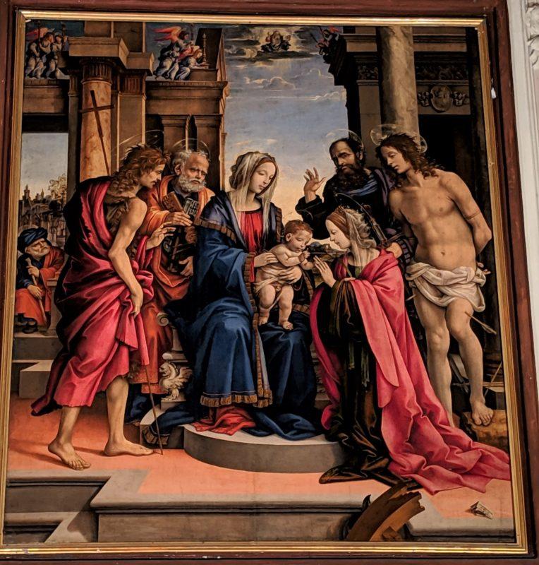 フイリッピーノ・リッピ「聖カタリナ神秘の結婚」(1501