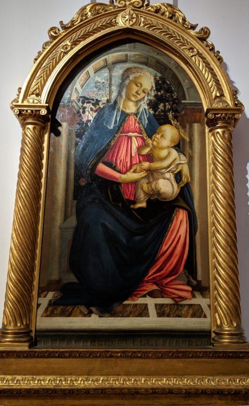 「バラ園の聖母」サンドロ・ボッティチェリ(1469-1470年)